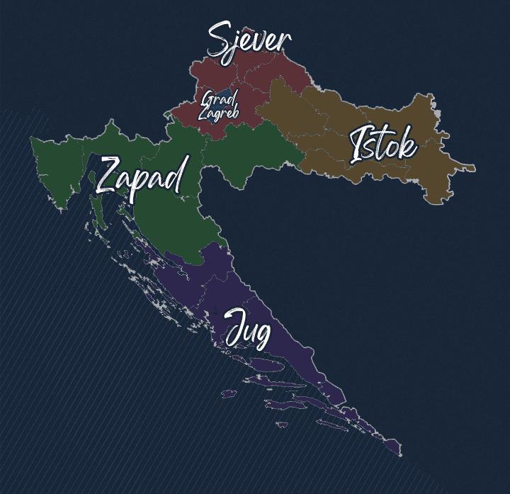 HGL - Karta regija